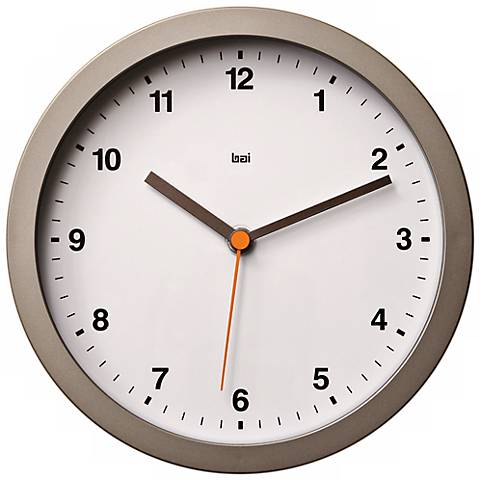 "Designer Studio Helio White 8"" Wide Modern Wall Clock"