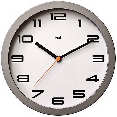 "Designer Studio Velocity 8"" Wide Modern Wall Clock"