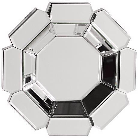 "Howard Elliott Charisma 14"" High Octagonal Wall Mirror"