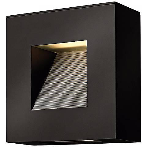 "Hinkley Luna 9"" Wide Satin Black Outdoor Wall Light"