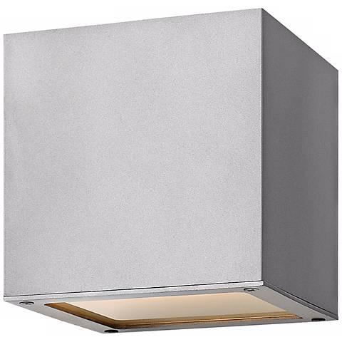 "Hinkley Kube Downlight 6"" High Titanium Wall Light"