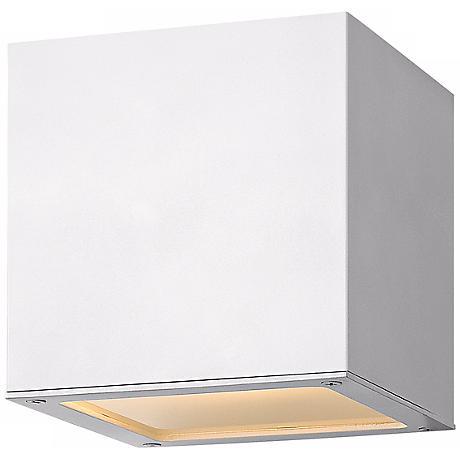 "Hinkley Kube Downlight 6"" High White Wall Light"