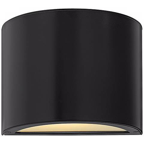 "Hinkley Luna Up-Down 9"" Wide Black Outdoor Wall Light"