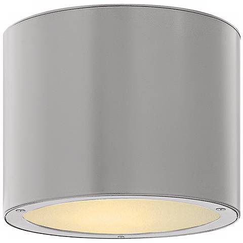 """Hinkley Luna Circle 8"""" Wide Titanium Outdoor Ceiling Light"""