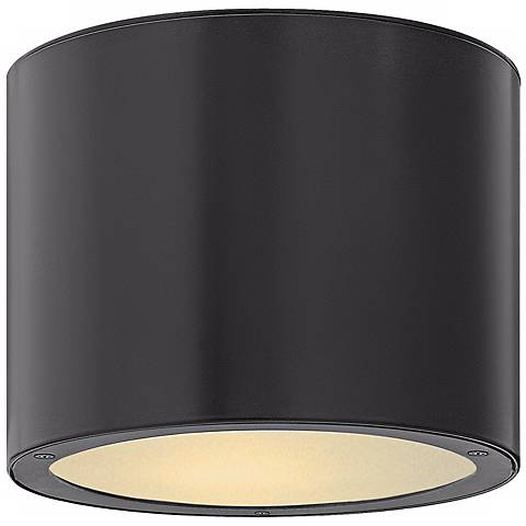 "Hinkley Luna Circle 8"" Wide Black Outdoor Ceiling Light"