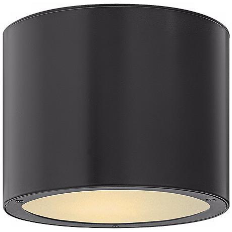 "Hinkley Luna Circle 8"" Wide Black Outdoor Ceiling Light"