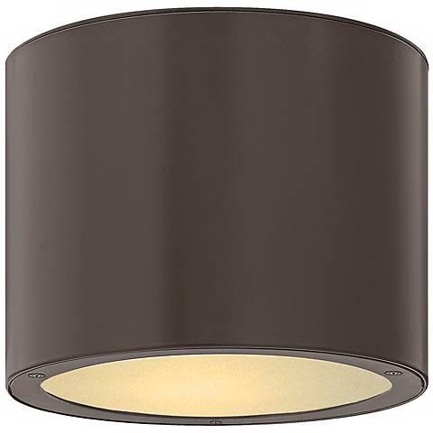 "Hinkley Luna Circle 8"" Wide Bronze Outdoor Ceiling Light"