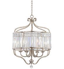 "Stella 22"" Wide Soft Silver 6-Light Crystal Chandelier"