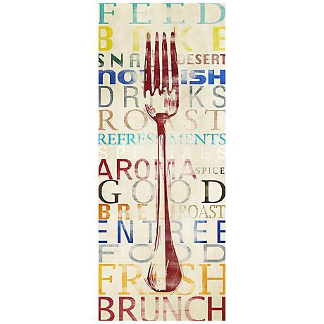 "Fork Contemporary 20"" High Kitchen Art Print"