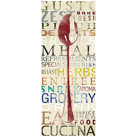 "Spoon Contemporary 20"" High Kitchen Art Print"