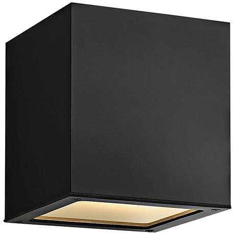 """Hinkley Kube 6 1/4"""" High Satin Black Ceiling Light"""