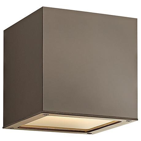 """Hinkley Kube Downlight 6"""" High Bronze Wall Light"""