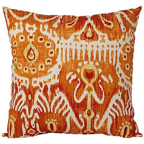 cerva pumpkin 18 square designer throw pillow - Designer Throw Pillow