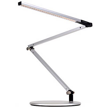 gen 3 z bar mini warm light led desk lamp silver v6899 lamps plus. Black Bedroom Furniture Sets. Home Design Ideas