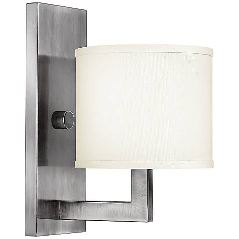 "Hinkley Hampton 12"" High Small Antique Nickel Wall Sconce"