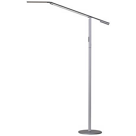 Koncept Gen 3 Equo Daylight LED Modern Floor Lamp Silver