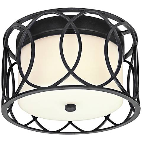"Sausalito Collection 12 1/4"" Wide Deep Bronze Ceiling Light"