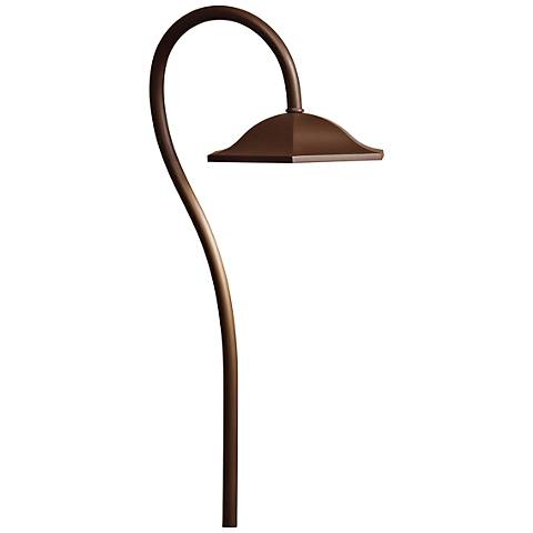 "Kichler Sheperd's Crook 271/2"" High LED Brass Path Light"