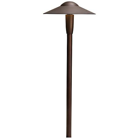 "Kichler Landscape 8 1/4"" Wide LED Bronze Dome Path Light"