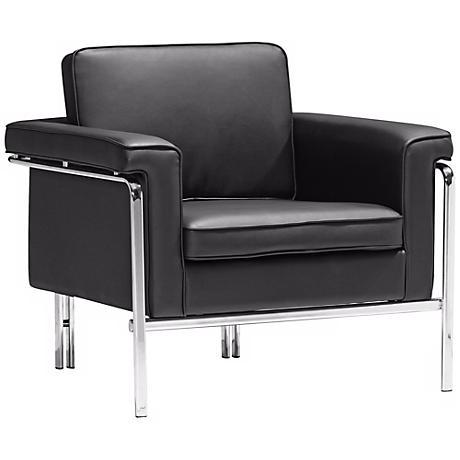 Zuo Modern Singular Black Armchair