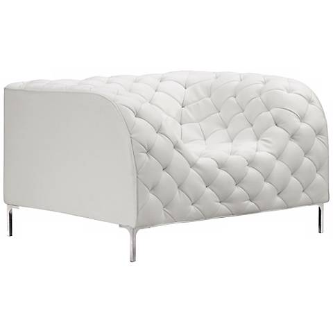 Zuo Modern Providence White Armchair