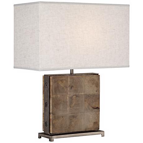 Robert Abbey Oliver Mango Wood Table Lamp