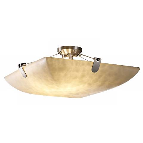 "Clouds Collection 18"" Wide Brushed Nickel Ceiling Light"