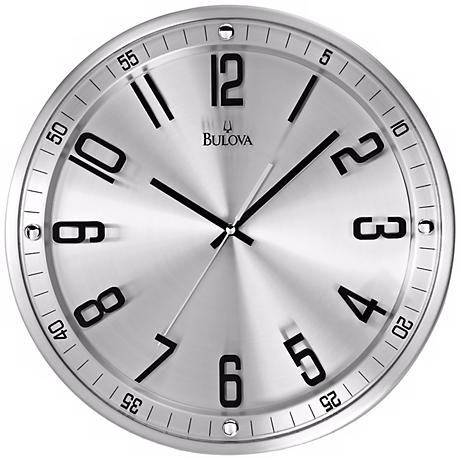Bulova Silhouette 13 High Stainless Steel Wall Clock