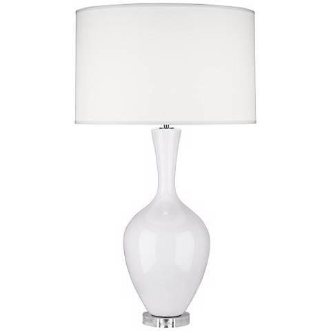 Robert Abbey Audrey Lily White Ceramic Buffet Lamp