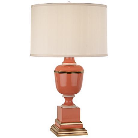 Mary McDonald Annika Cream and Tangerine Orange Table Lamp