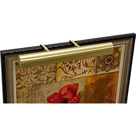 """House of Troy 21"""" Wide Satin Brass Adjustable Picture Light"""