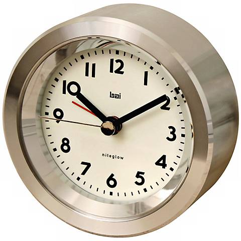Astor Landmark Aluminum Travel Alarm Clock