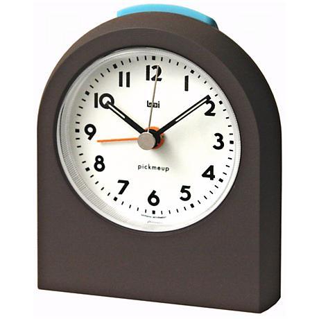 Pick-Me-Up Dark Brown Alarm Clock
