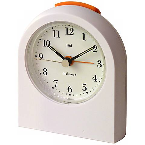 Pick-Me-Up Bodoni White Alarm Clock