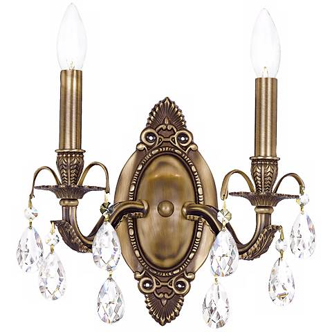 "Crystorama Dawson 2-Light 12"" High Crystal Wall Sconce"