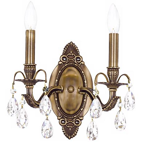 Crystorama Dawson 2 Light 12 High Crystal Wall Sconce