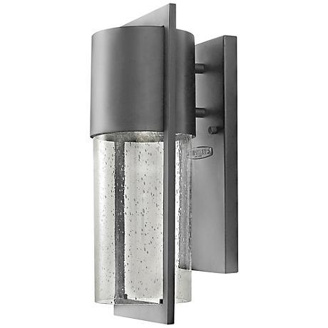 "Hinkley Shelter 15 1/2""H LED Hematite Outdoor Wall Light"