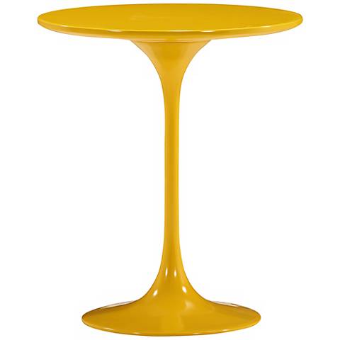 Zuo Wilco Glossy Yellow Side Table