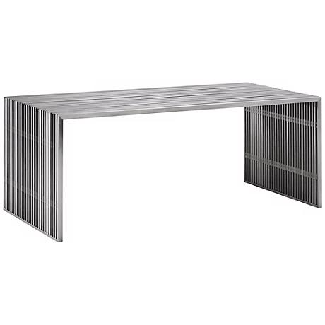 Zuo Novel Stainless Steel Dining Table