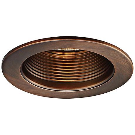 "WAC 4"" Step Baffle Recessed Downlight Copper Bronze Trim"