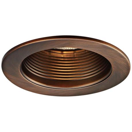 wac 4 step baffle recessed downlight copper bronze trim v9340 lamp. Black Bedroom Furniture Sets. Home Design Ideas