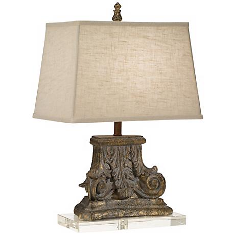 crystal table lamps lamps plus. Black Bedroom Furniture Sets. Home Design Ideas