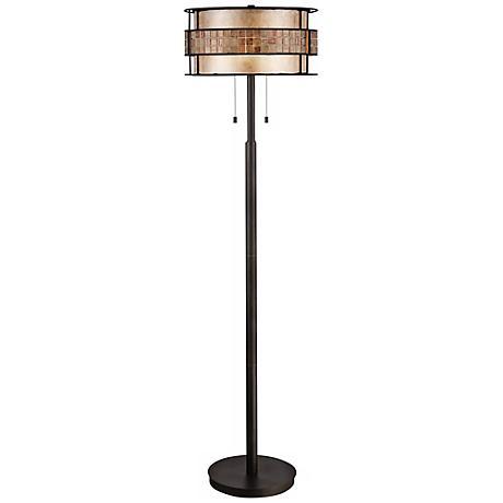 Quoizel Laguna Copper Mica/Tile Shade Floor Lamp