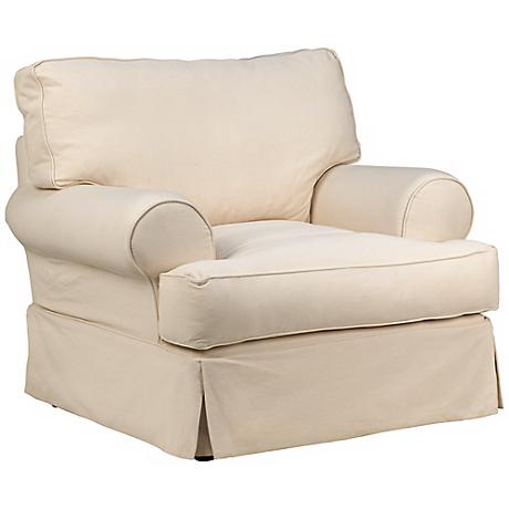 Rachel Classic Natural Slipcover Armchair