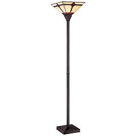 Lite Source Karysa Tiffany Style Torchiere Floor Lamp