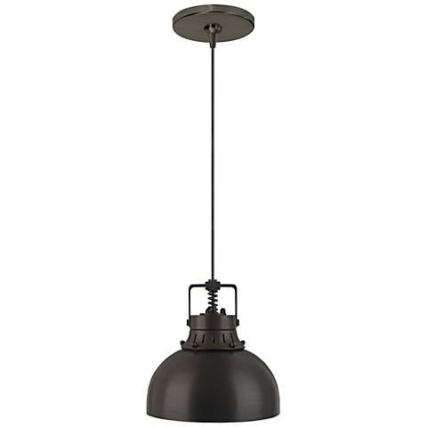 "Mini Cargo Solid 6 1/2""W Bronze LED Freejack Mini Pendant"