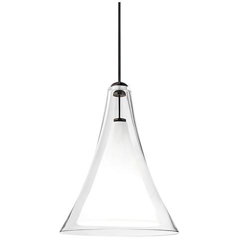 Melrose II Clear Glass LED Freejack Mini Pendant