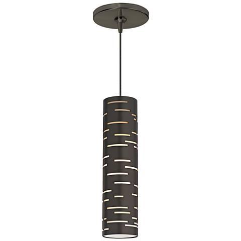 """Revel 2 3/4""""W Antique Bronze LED Freejack Mini Pendant"""