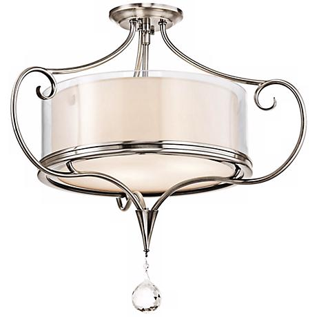"Kichler Lara 21 1/4"" Wide Classic Pewter Ceiling Light"