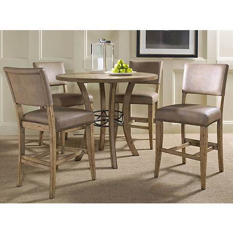 Hillsdale Charleston Round Parsons Counter Dining Set of 5